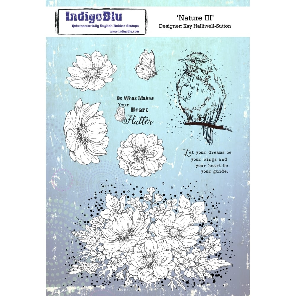 IndigoBlu Cling Stamp NATURE III Rubber ind0415 zoom image