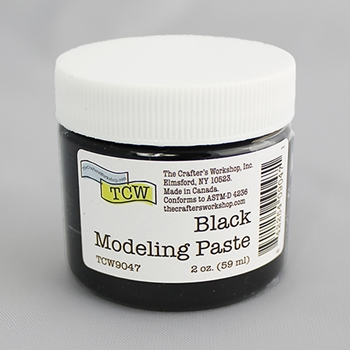 The Crafter's Workshop BLACK MODELING PASTE 2oz tcw9047