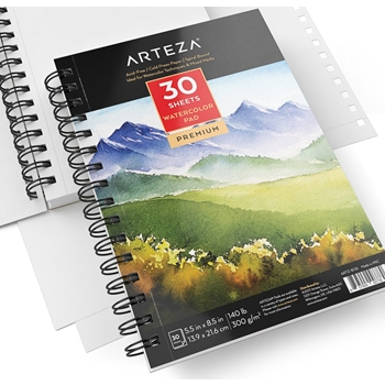 Arteza WATERCOLOR PAPER 5.5x8.5 Pad artz8135