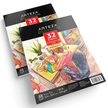 Arteza WATERCOLOR PAPER 9x12 Pad artz8065