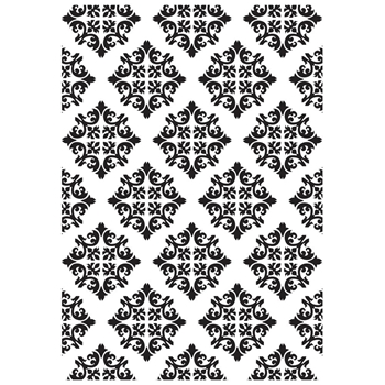 Kaisercraft DIAMOND DAMASK Embossing Folder 4x6 Inches EF282