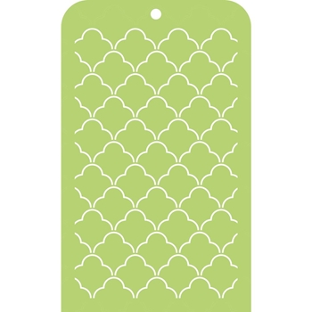 Kaisercraft SCALLOP LATTICE Mini Designer Template Stencil IT031