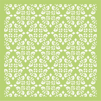 Kaisercraft DIAMOND FLOURISH 6x6 Inch Designer Stencil Template IT466