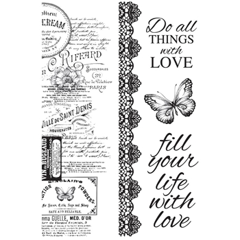 Kaisercraft MEMORY LANE Clear Stamps CS326