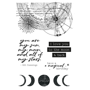 Kaisercraft STARGAZER Clear Stamps CS327