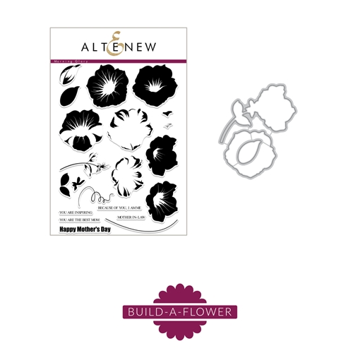 Altenew BUILD A FLOWER MORNING GLORY Clear Stamp and Die Set ALT2253
