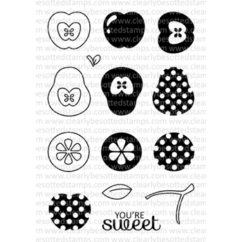 Clearly Besotted FRUITFUL TOO Clear Stamp Set