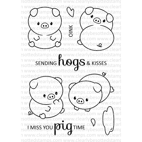 Clearly Besotted PERFECT PIGS Clear Stamps Preview Image