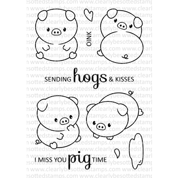 Clearly Besotted PERFECT PIGS Clear Stamps