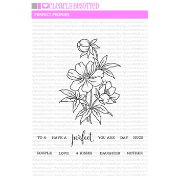 Clearly Besotted PERFECT PEONIES Clear Stamps