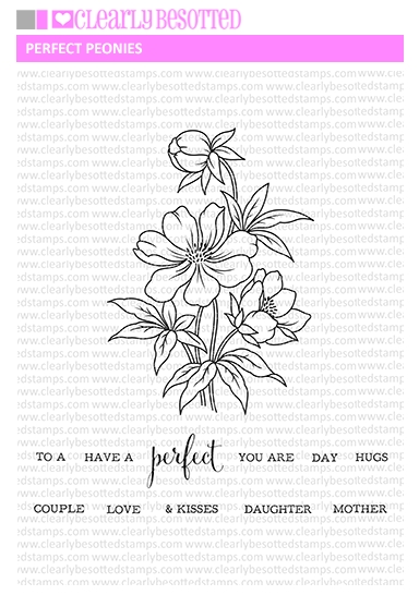Clearly Besotted PERFECT PEONIES Clear Stamps zoom image