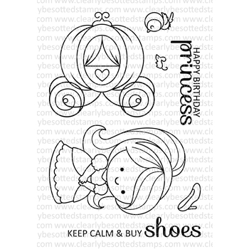 Clearly Besotted FAIRY TALE PRINCESS Clear Stamps