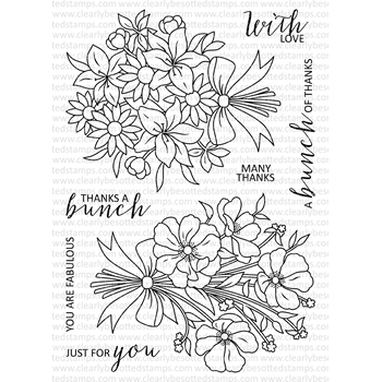 Clearly Besotted SAY IT WITH FLOWERS Clear Stamps