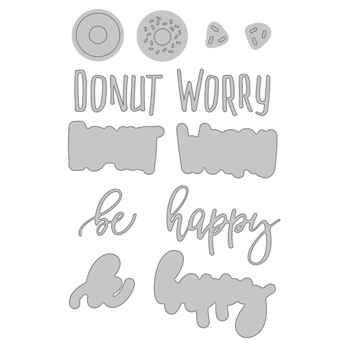Honey Bee DONUT WORRY Dies hbds-111 Preview Image
