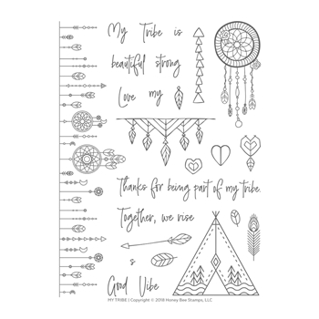 Honey Bee MY TRIBE Clear Stamp Set hbst-120