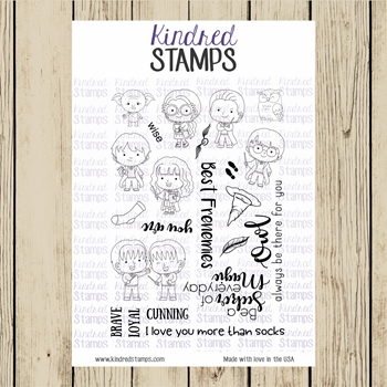Kindred Stamps STUDENTS OF MAGIC Clear Stamp Set ks4524