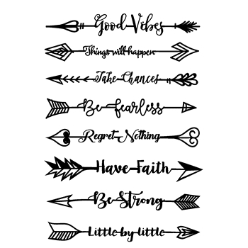Joy Clair INSPIRATIONAL ARROWS Clear Stamp Set clr02165