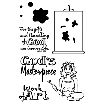 Joy Clair GOD'S MASTERPIECE Clear Stamp Set clr02166