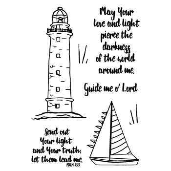 Joy Clair LIGHT HOUSE Clear Stamp Set clr02163