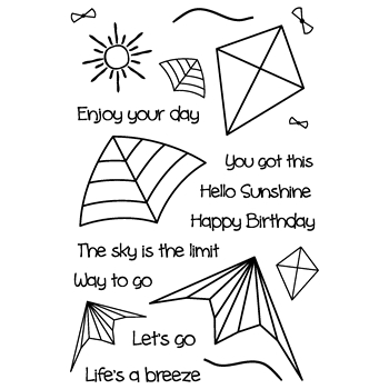 Joy Clair LIFE'S A BREEZE Clear Stamp Set clr02164