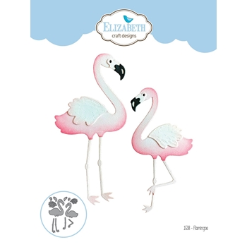 Elizabeth Craft Designs FLAMINGOS Craft Die 1538