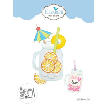 Elizabeth Craft Designs SUMMER DRINK Craft Die 1542*