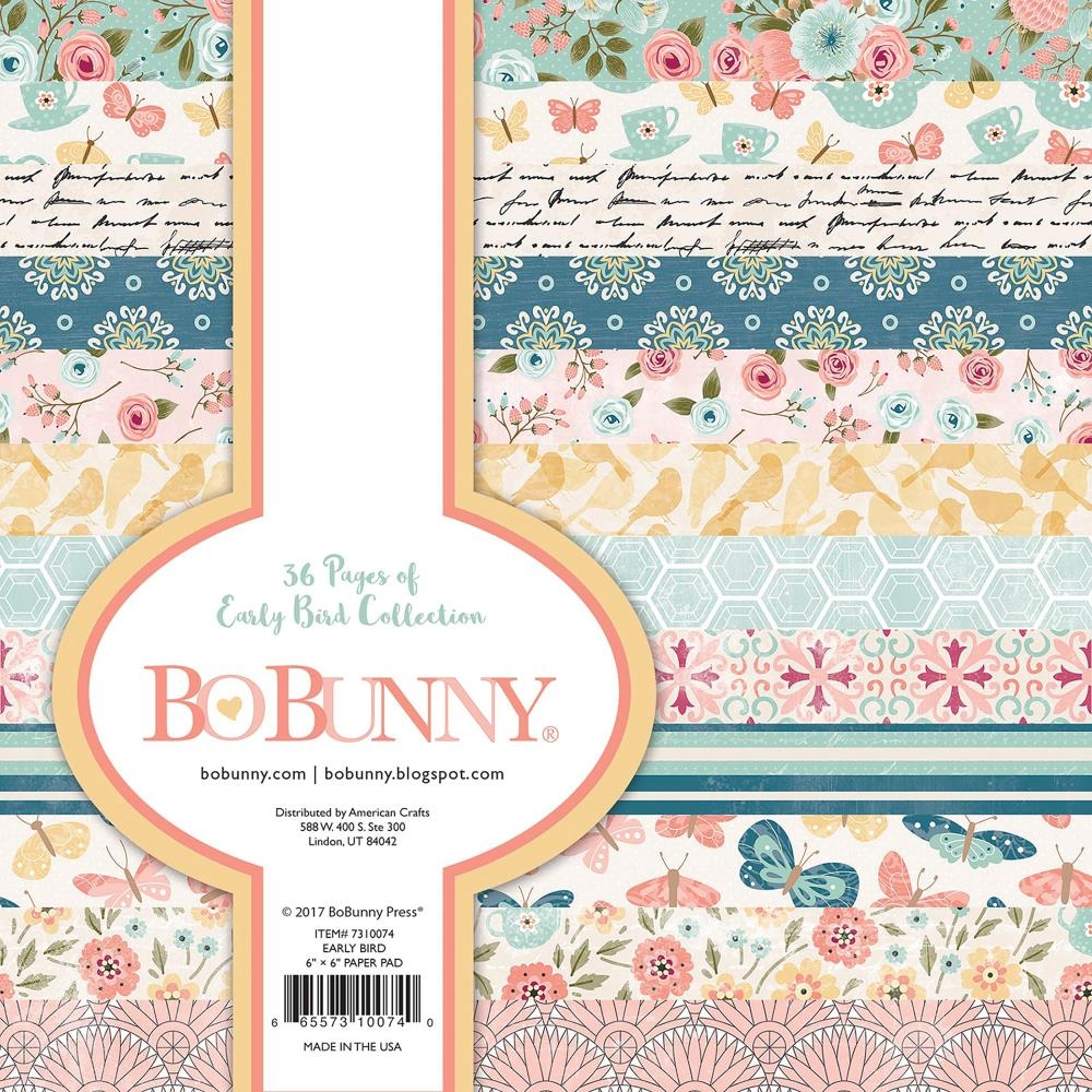 Bo Bunny Early Bird 6x6 Paper Pack