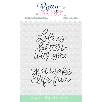 Pretty Pink Posh SIMPLE SAYINGS LIFE Clear Stamp Set