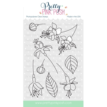Pretty Pink Posh FLOURISHING FUCHSIAS Clear Stamp Set
