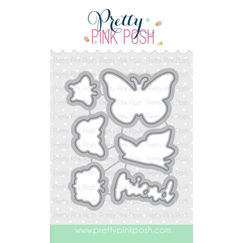 Pretty Pink Posh BUTTERFLY FRIENDS Die Set
