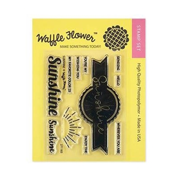 Waffle Flower SUNSHINE Clear Stamps 271183