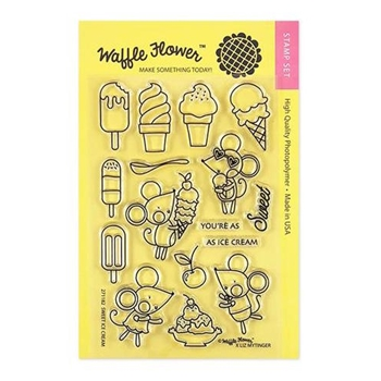 Waffle Flower SWEET ICE CREAM Clear Stamps 271182