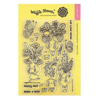 Waffle Flower LET LOVE GROW Clear Stamps 271178