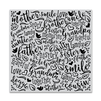Hero Arts Cling Stamp FAMILY WORD Bold Prints CG741