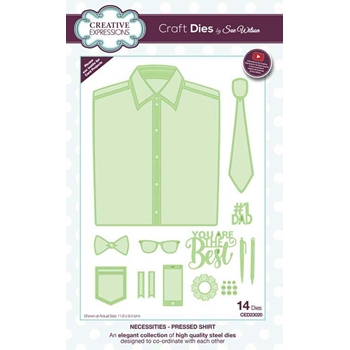 Creative Expressions PRESSED SHIRT Sue Wilson Necessities Collection Die Set ced23020