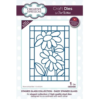 Creative Expressions DAISY Stained Glass Sue Wilson Festive Collection ced24006
