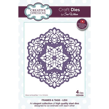 Creative Expressions LEXI Sue Wilson Frames and Tags Collection Die Set ced4356