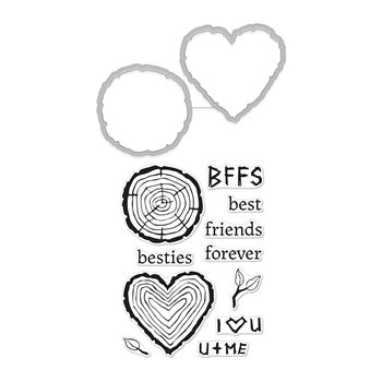 Hero Arts Stamp And Cuts BESTIES Coordinating Set DC237