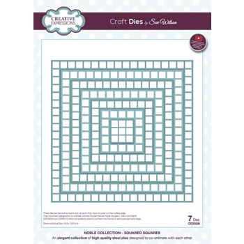 Creative Expressions SQUARED SQUARES Sue Wilson Noble Collection Die Set ced5526
