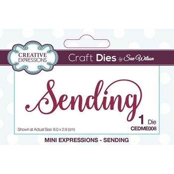 Creative Expressions SENDING Sue Wilson Mini Expressions Die Set cedme008
