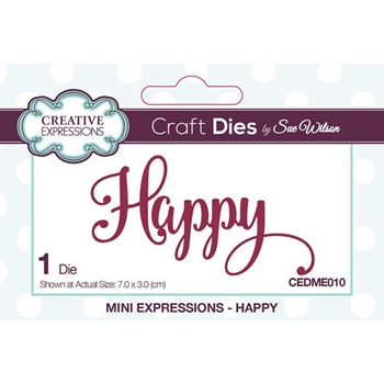 Creative Expressions HAPPY Sue Wilson Mini Expressions Die Set cedme010
