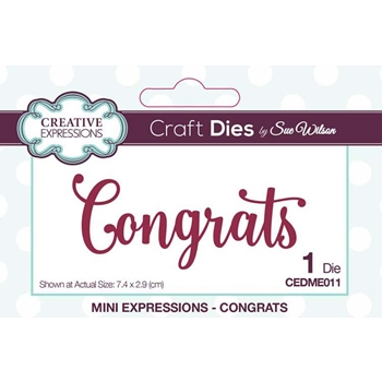 Creative Expressions CONGRATS Sue Wilson Mini Expressions Die Set cedme011