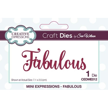 Creative Expressions FABULOUS Sue Wilson Mini Expressions Die Set cedme012