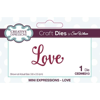 Creative Expressions LOVE Sue Wilson Mini Expressions Die Set cedme013