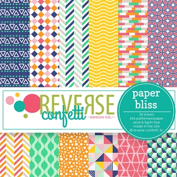 Reverse Confetti PAPER BLISS 6x6 Inch Paper Pad