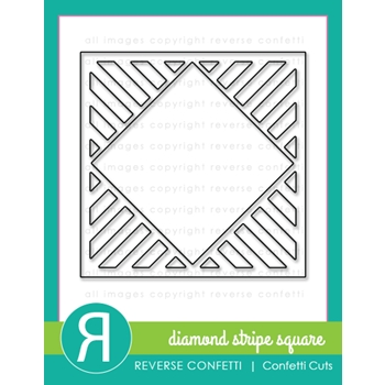 Reverse Confetti Cuts DIAMOND STRIPE SQUARE Die