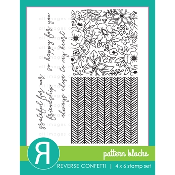 Reverse Confetti PATTERN BLOCKS Clear Stamps
