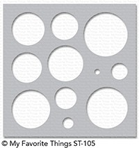 My Favorite Things BASIC SHAPES CIRCLES Mix-ables Template Stencil ST105 zoom image