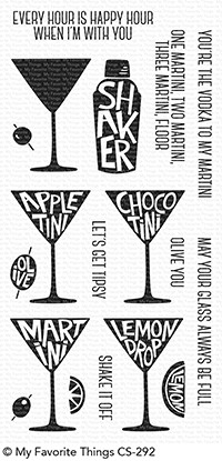 My Favorite Things MARTINI TIME Clear Stamps CS292 zoom image