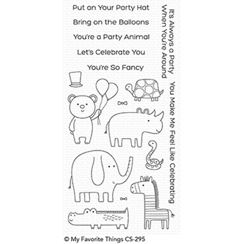 My Favorite Things SAFARI PARTY Clear Stamps CS295